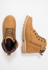 Friboo - Lace-up ankle boots - cognac - 0