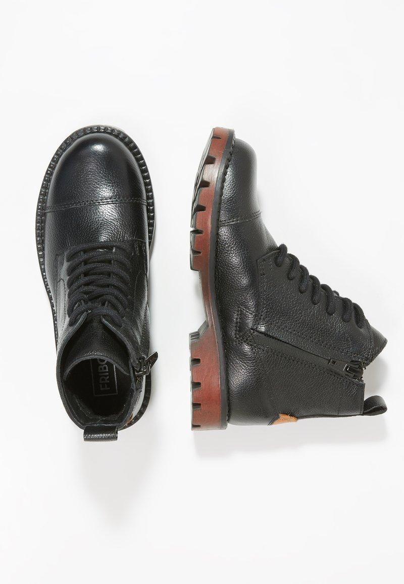 Friboo - Šněrovací kotníkové boty - black