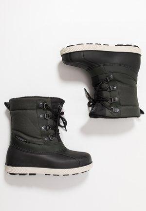Winter boots - black/green