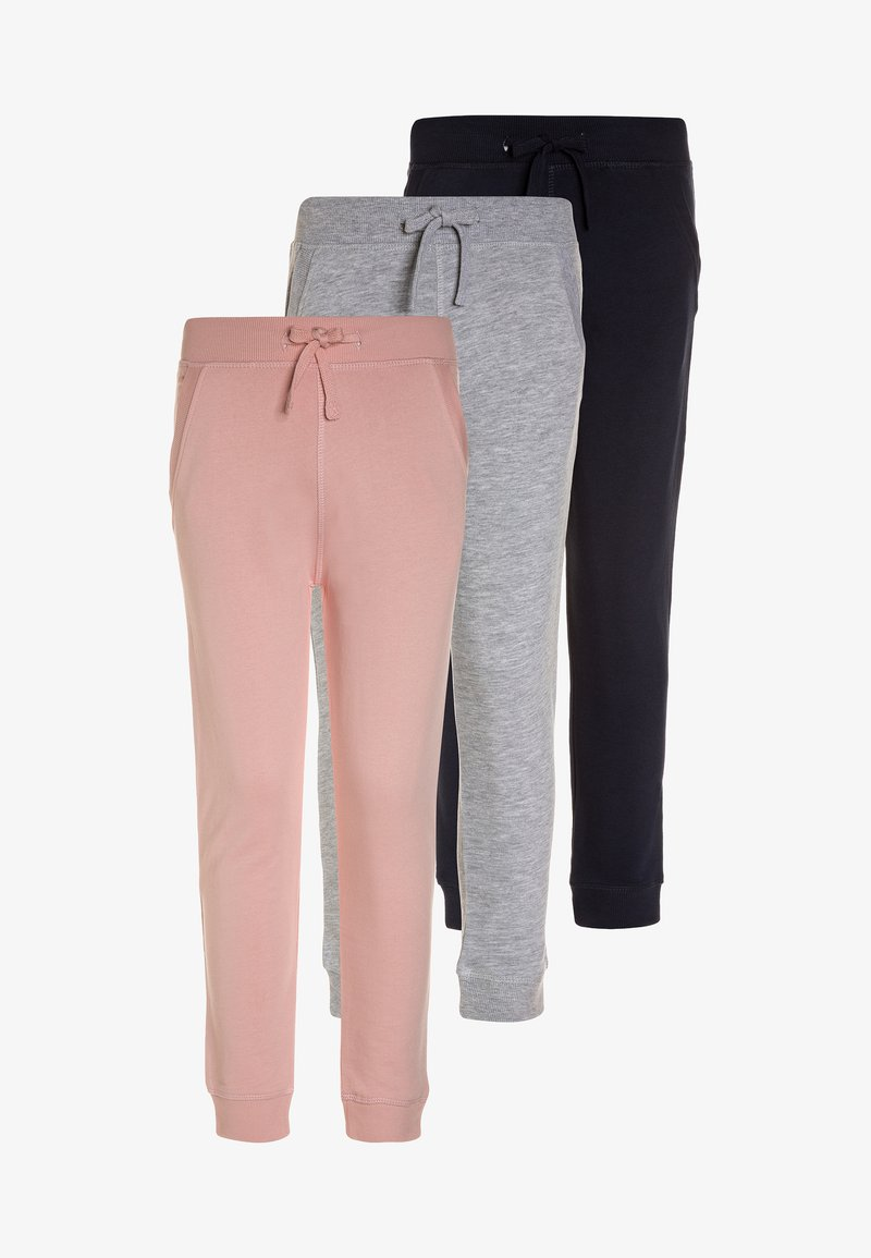 Friboo - 3 PACK - Pantalon de survêtement - blue/pink/grey melange