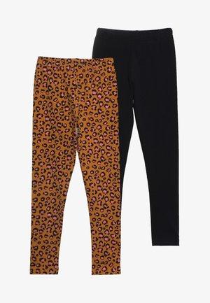 2 PACK - Leggings - Trousers - sudan brown/anthracite