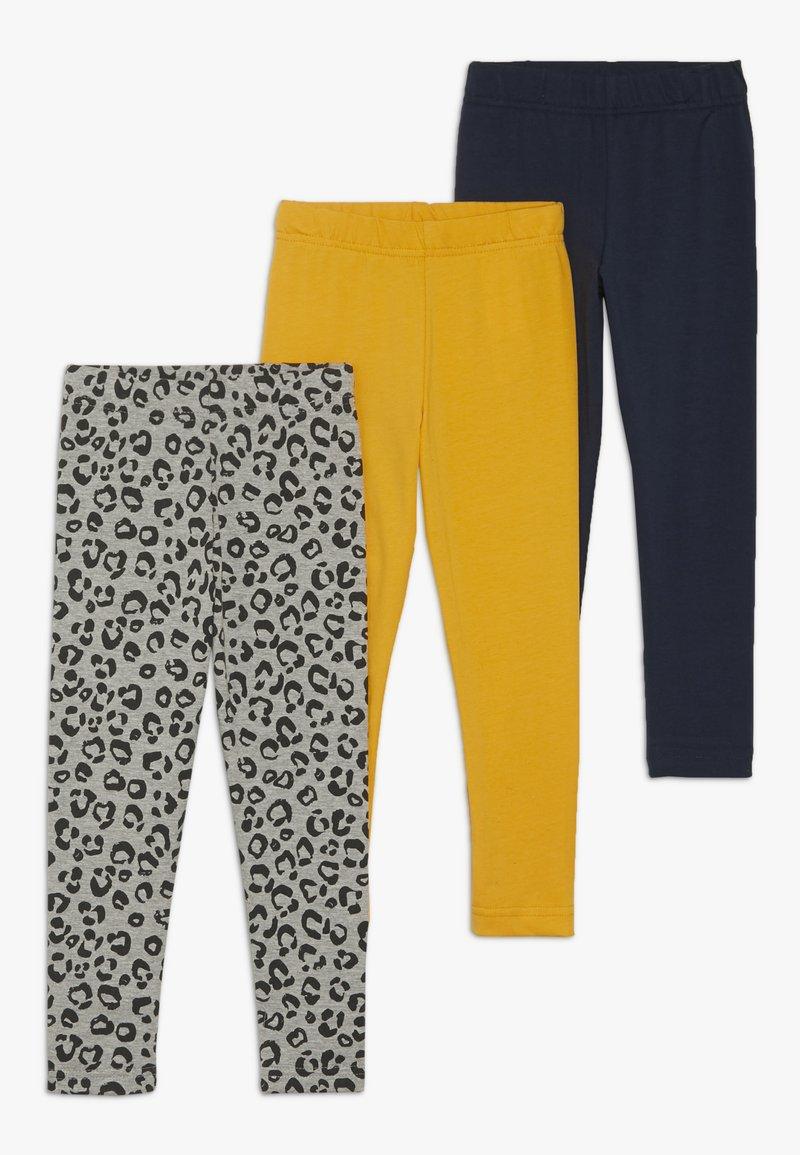 Friboo - 3 PACK  - Leggings - Trousers - light grey marl/sunflower