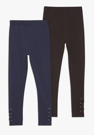 2 PACK - Leggings - Trousers - darkblue/black
