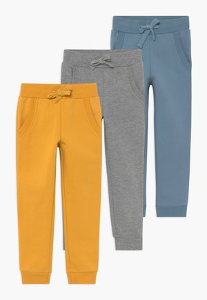 GIRLS 3 PACK - Tracksuit bottoms - light grey/melange/blue heaven