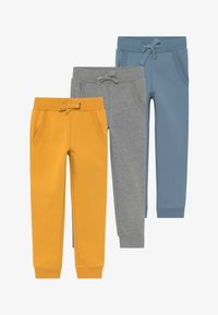 Friboo - GIRLS 3 PACK - Tracksuit bottoms - light grey/melange/blue heaven - 3