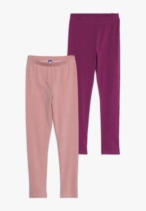 2 PACK - Leggings - purple rose/blush pink