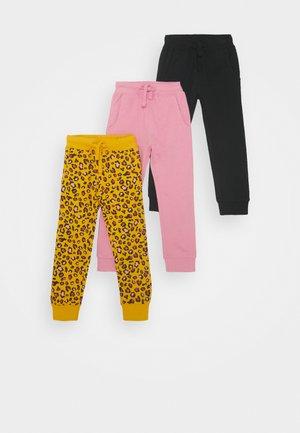3 PACK - Teplákové kalhoty - black/pink