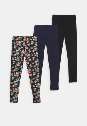 BASIC GIRLS 3 PACK - Leggings - Trousers - navy