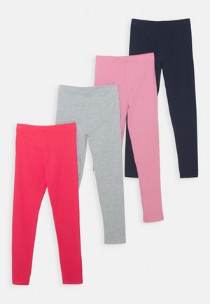 4 PACK - Leggings - Trousers - pink/light grey/dark blue