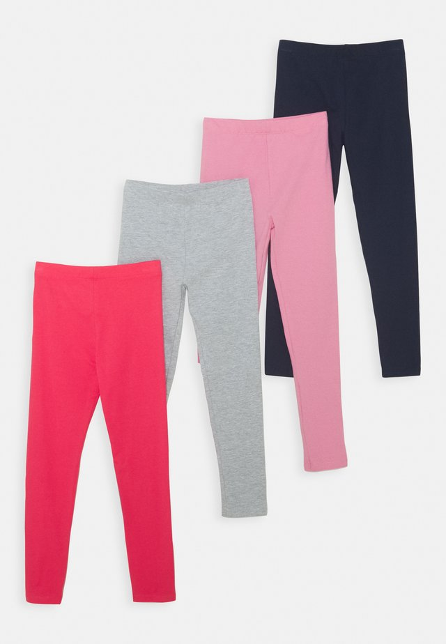 4 PACK - Leggings - Hosen - pink/light grey/dark blue