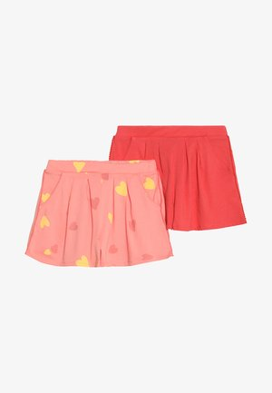 2 PACK - Shorts - pink/red