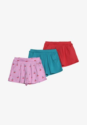 3 PACK - Shorts - pink/red/blue