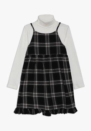 2 IN 1 - Denní šaty - dark grey/cream