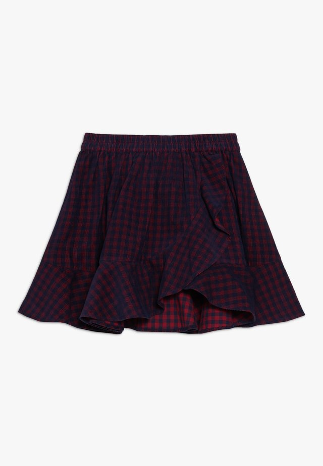 A-line skirt - red/navy