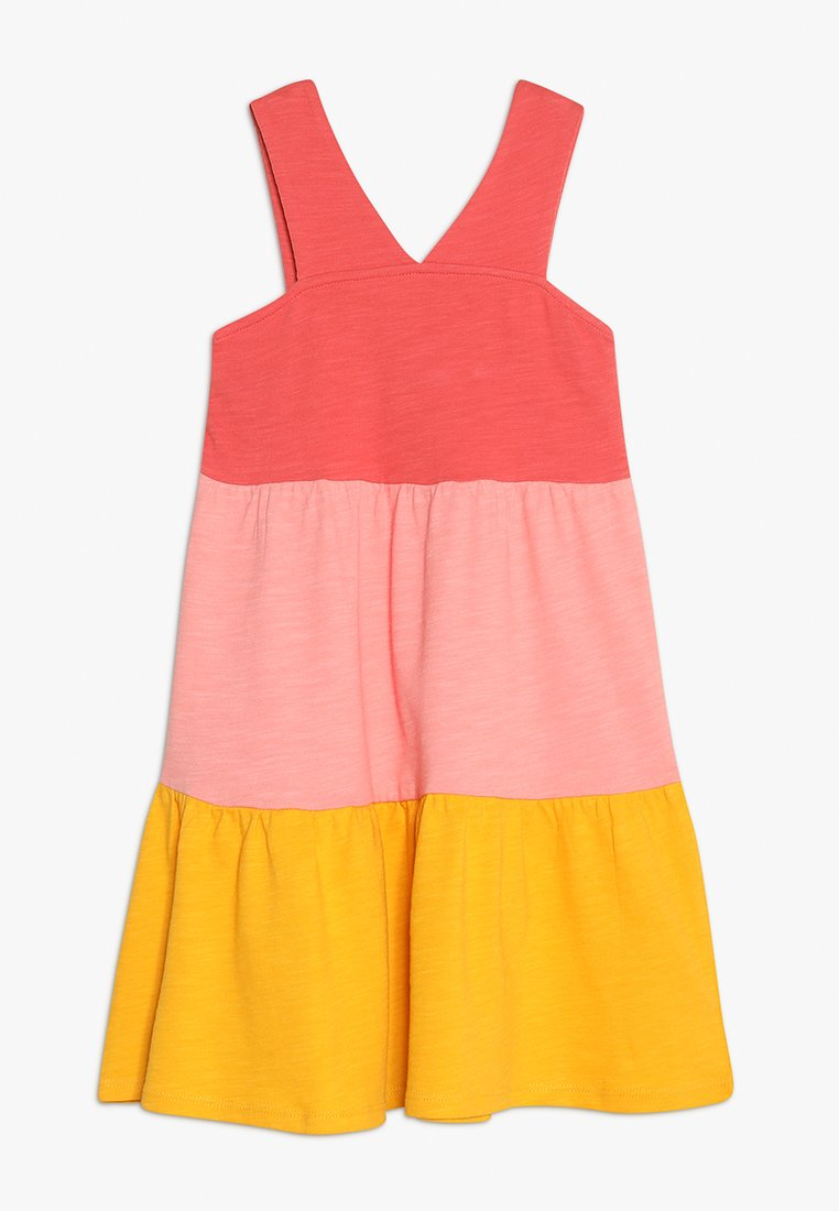 Friboo - COLOURBLOCK A-LINE DRESS - Robe en jersey - spiced coral/strawberry