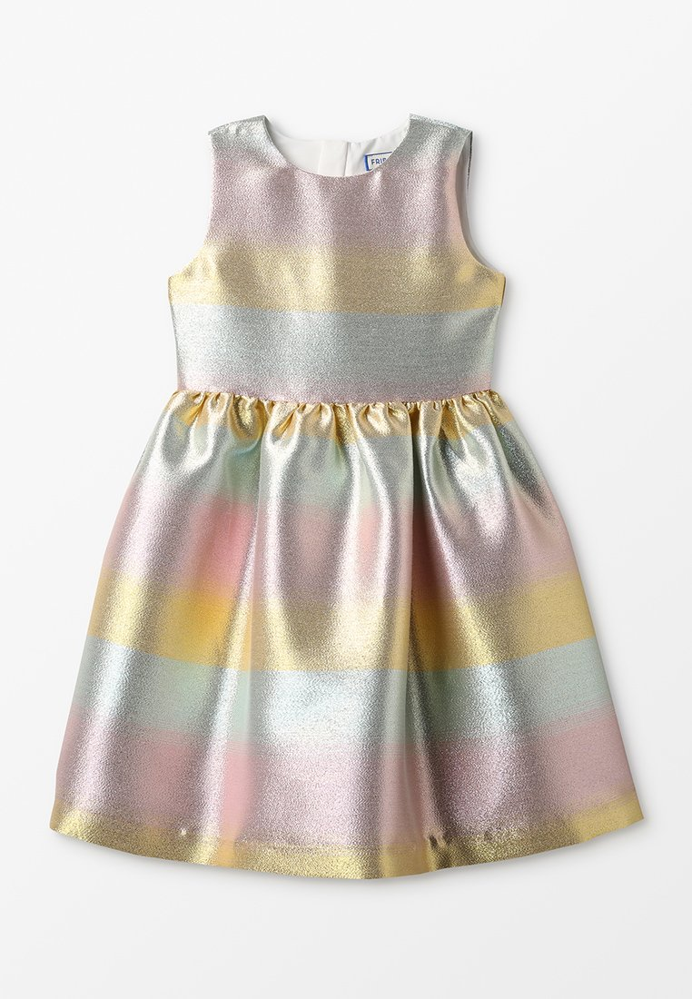 Friboo - OMBRE SPARKLE DRESS AND RIBBON - Cocktailjurk - gold