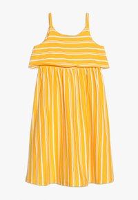 Friboo - MIDI STRAPPY DRESS - Žerzejové šaty - citrus/bright white - 0