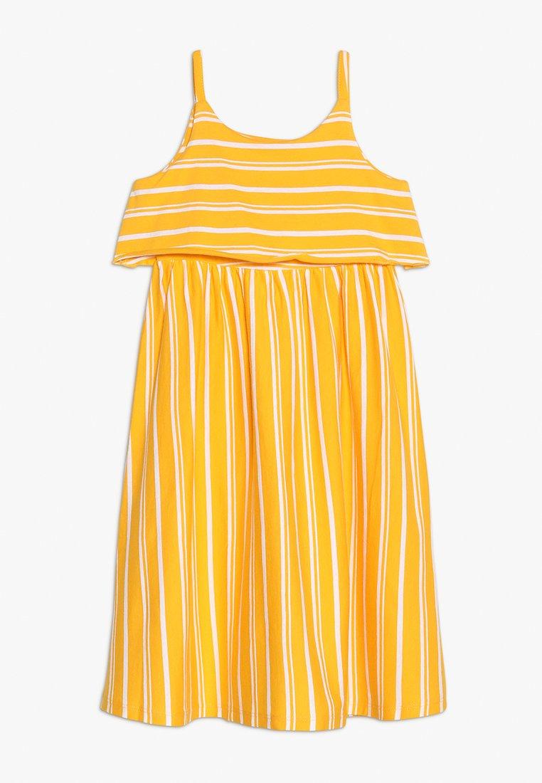 Friboo - MIDI STRAPPY DRESS - Žerzejové šaty - citrus/bright white