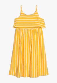 Friboo - MIDI STRAPPY DRESS - Žerzejové šaty - citrus/bright white - 1
