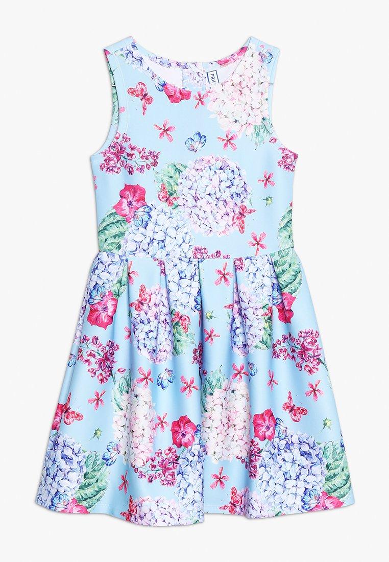 Friboo - FLORAL DIGITAL PRINT DRESS  - Kjole - corydalis blue