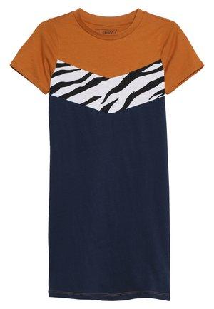 Žerzejové šaty - sudan brown/black iris