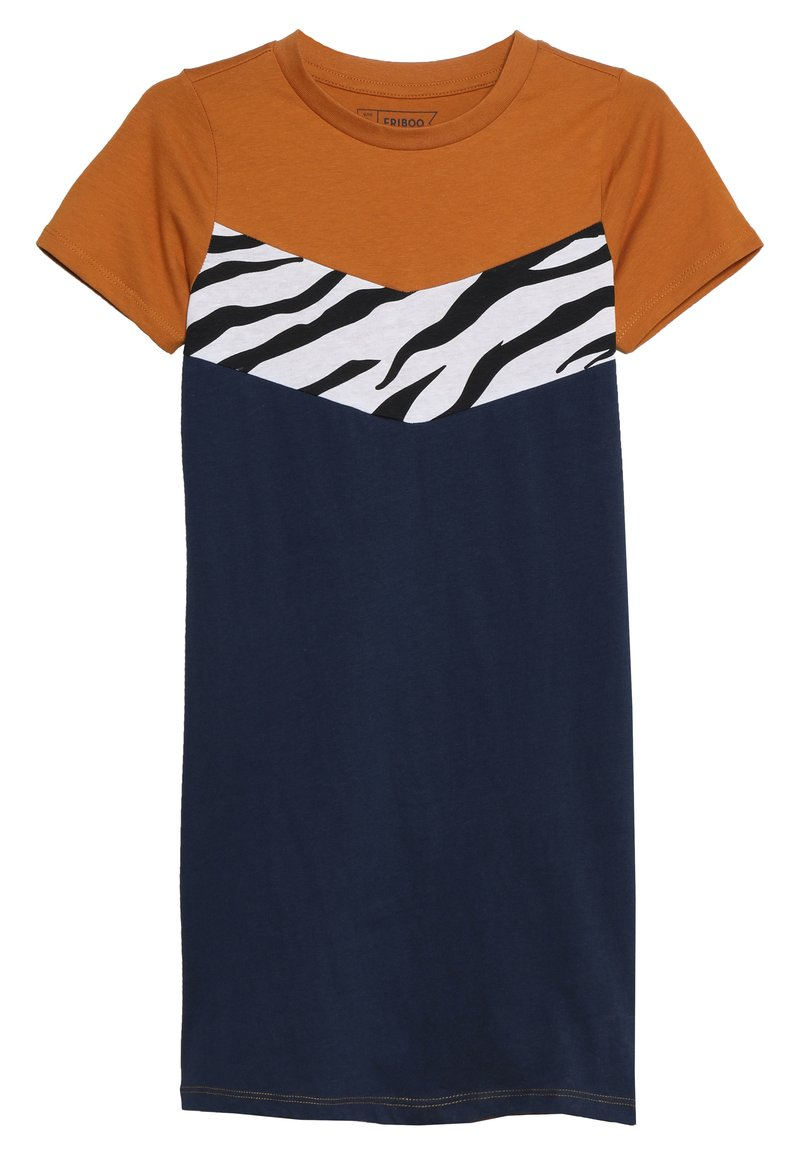 Friboo - Jerseyklänning - sudan brown/black iris