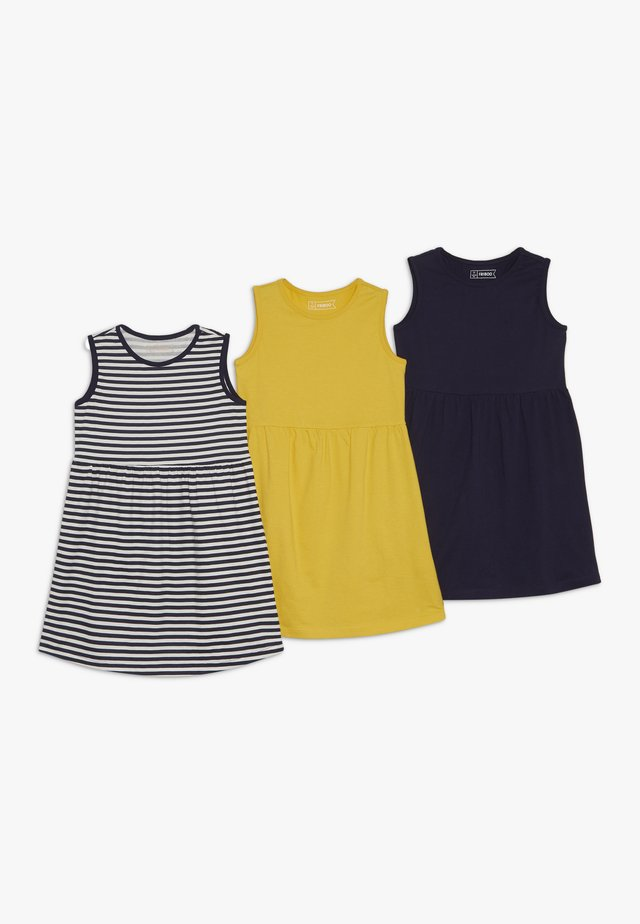3 PACK - Jersey dress - blue