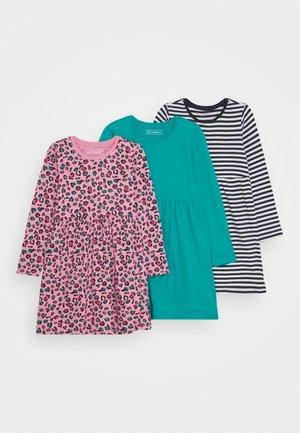 3 PACK - Jersey dress - pink/dark blue/multi-coloured