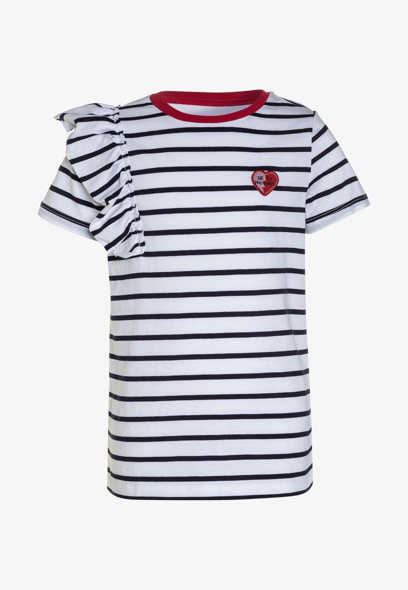 Friboo - T-shirts print - bright white/peacock