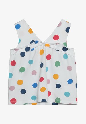 POLKA DOT FANCY VEST - Top - bright white