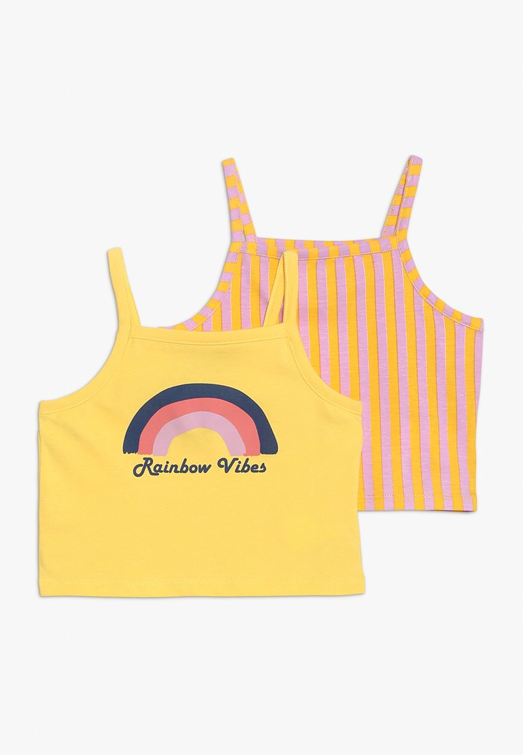 Friboo - CROP VEST 2 PACK - Linne - pink/yellow