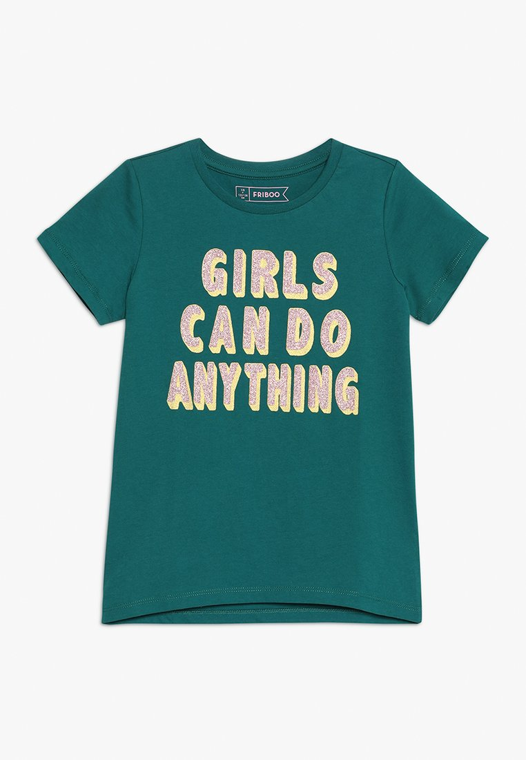 Friboo - GIRLS CAN DO ANYTHING - T-shirts print - green