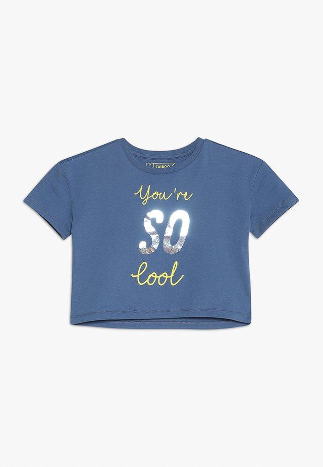 T-Shirt print - deep cobalt