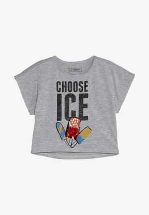 T-shirt z nadrukiem - light grey melange