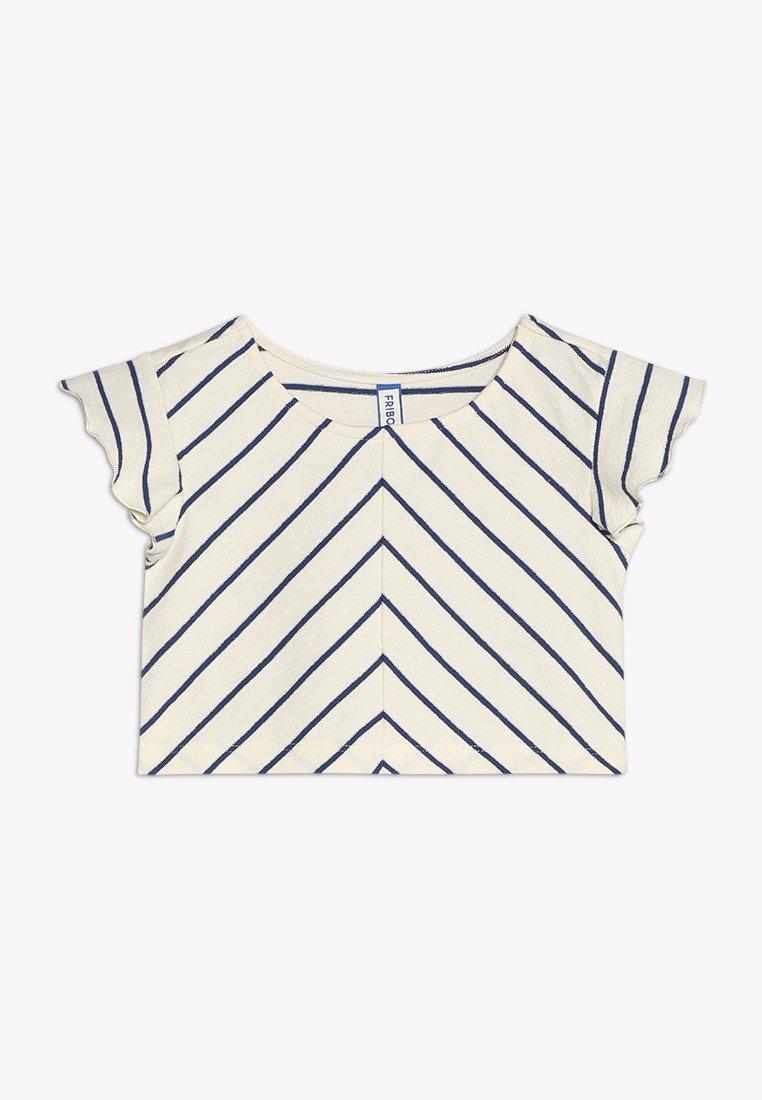 Friboo - Print T-shirt - bright white/true navy