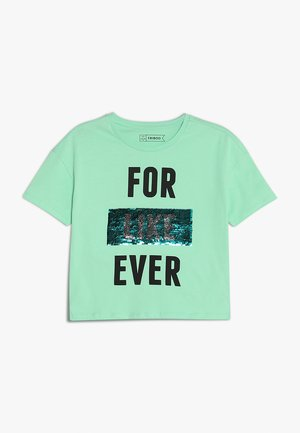 T-shirt con stampa - neptune green