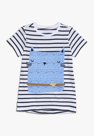 T-shirt imprimé - black iris/bright white