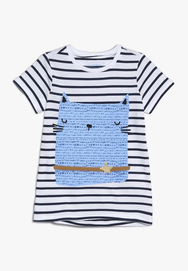 Friboo - T-Shirt print - black iris/bright white