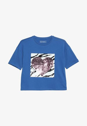 Print T-shirt - nautical blue