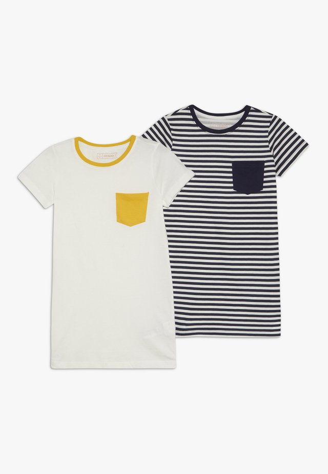 2 PACK  - Print T-shirt - winter white