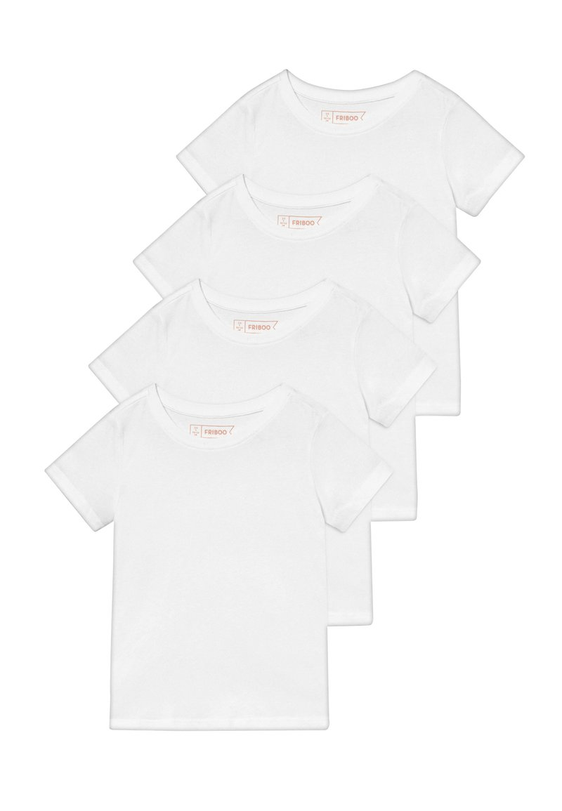 Friboo - 4 PACK - Jednoduché triko - winter white