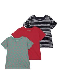 Friboo - 3 PACK  - T-shirt print - rose red - 0