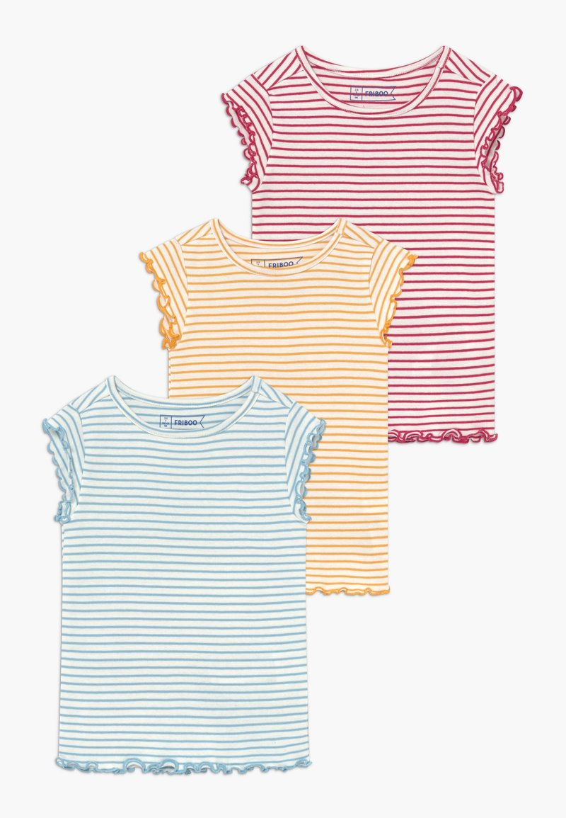 Friboo - 3 PACK - T-shirt con stampa - red/light blue/yellow