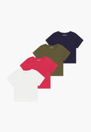 4 PACK  - T-shirts basic - khaki