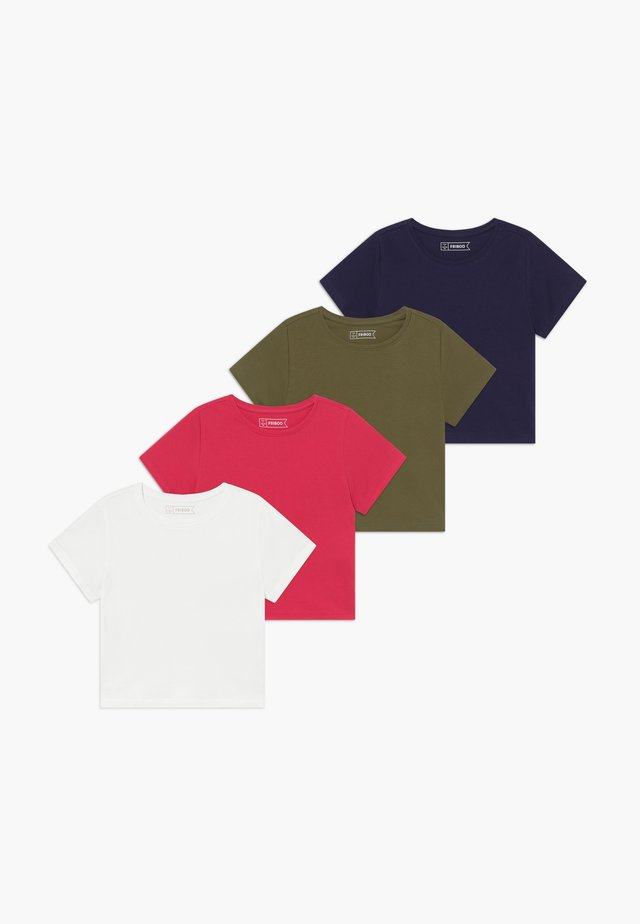 4 PACK  - T-shirt basic - khaki