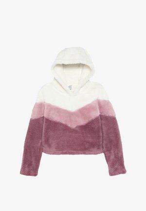 Fleece jumper - gardenia/pink