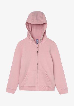 Zip-up hoodie - cameo pink