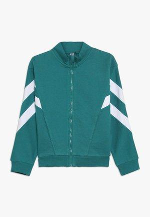 Mikina na zip - teal green
