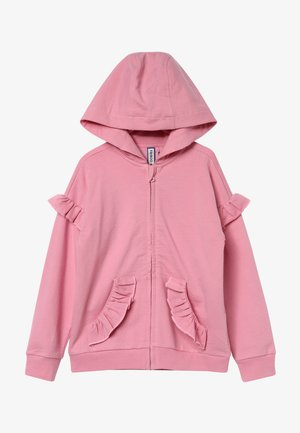 veste en sweat zippée - cashmere rose