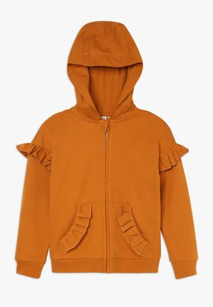 veste en sweat zippée - sudan brown
